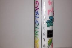 Geburtskerze Regenbogen (Jahreskerze)
